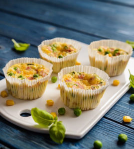 Quick nutrient dense muffin-sized frittatas for all meals of the day!